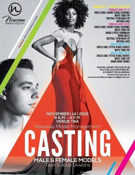 Nouveau Model Management - Belize conducting Open Casting for Male and Female Models ages 12-25 | Travel - Things to do in Belize | Scoop.it