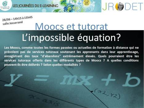 "Animation aux JEL de l'atelier : ""Moocs et tutorat : l'impossible équation ?"" 