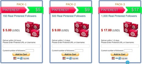 Buying PINTEREST FOLLOWERS: A Good or Bad Idea? - | Pinterest for Business | Scoop.it