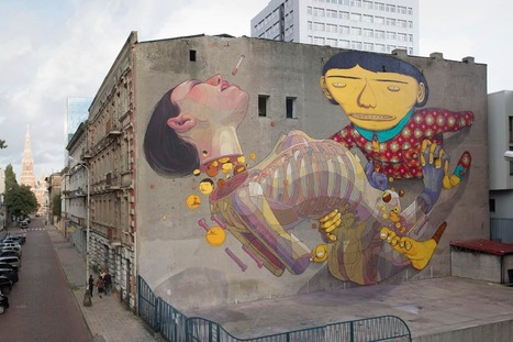 By Os Gemeos and Aryz at Urban Forms Gallery in Lodz, Poland | Le sens de votre vie | Scoop.it