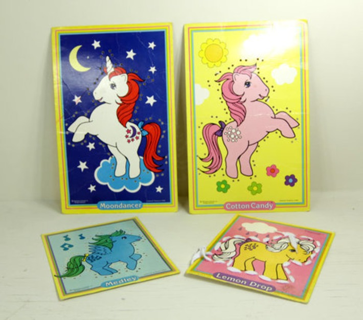 Set of 4 Vintage Retro My Little Pony Sewing Cards by Colorforms 1983 Hasbro 1980s | Kitsch | Scoop.it