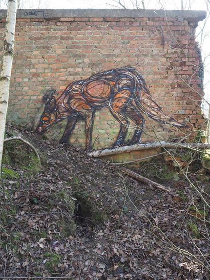 #fox <br/>Street art in Belgium<br/>by Belgian artist Dzia Krank.<br/>Photo by Dzia Krank.&#65279;   World of Street &amp; Outdoor Arts   Scoop.it