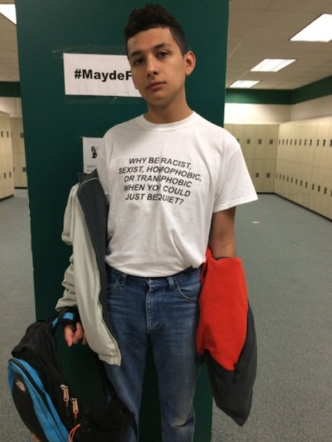People Are Obsessed With This High Schooler Who Made A Fierce Statement With His T-Shirt | Gay News | Scoop.it