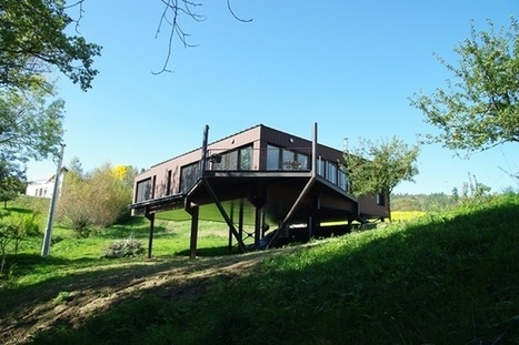 inspiration maison individuelle contemporaine en ossature mtallique sur terrain trs contraint pringy - Charpente Metallique Maison Individuelle