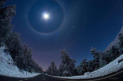 APOD: 2012 December 3 - A Quadruple Lunar Halo Over Spain   Places of Peace   Scoop.it