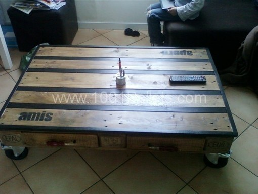 Table basse palette pallet coffee table 100 - Fabrication table basse palette ...