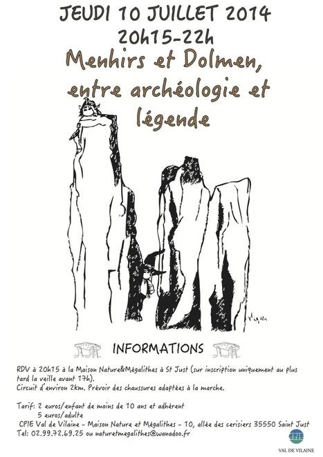 Soirée Menhirs et Dolmens: entre archéologie et légende   Mégalithismes   Scoop.it