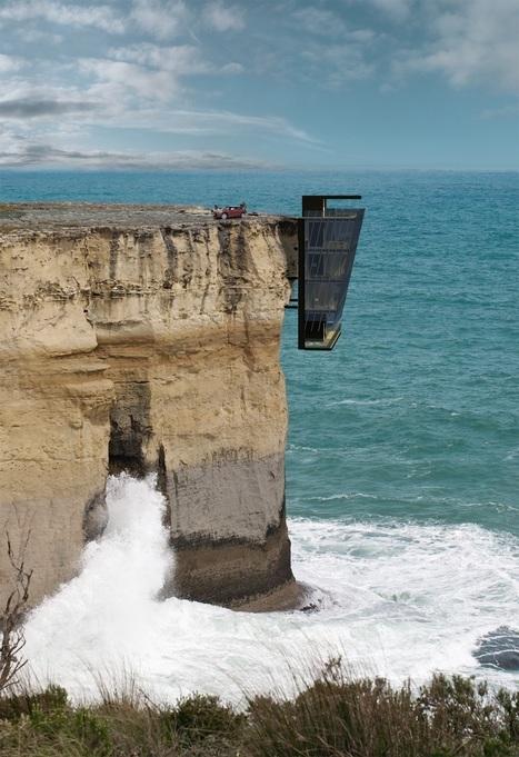 Cliff House Project, l'incroyable maison accrochée à la falaise - Masculin.com | mobilier salle de bain | Scoop.it