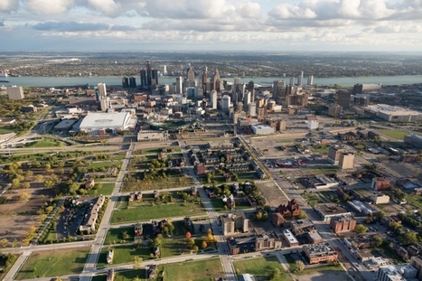 You can learn a lot about Detroit by seeing it from the air   Modern Ruins   Scoop.it