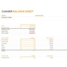 daily cash balance sheet