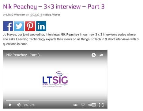 Nik Peachey – 3×3 interview – Part 3 | | Nik Peachey | Scoop.it