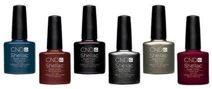 cnd shellac fall collection 2013 set of 6 free 2 decori 3d nail art sticker