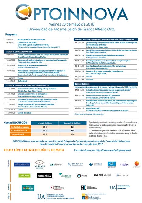 OPTOINNOVA. Universidad de Alicante   Salud Visual (Profesional) 2.0   Scoop.it