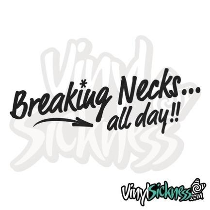 Breaking necks • stickers decals • vinyl sickness jdm stickers tuner apparel