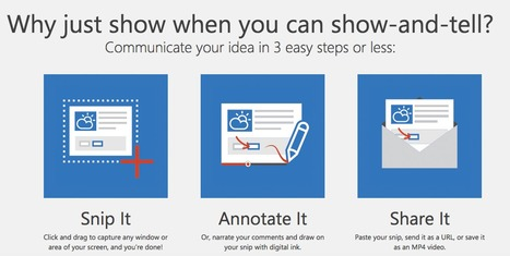 Snip - Show and Tell (Create Videos in 60 Seconds)   Creative Tools... and ESL   Scoop.it