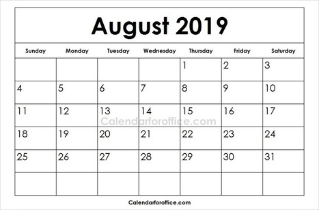 Free Printable Calendar 2019 In Calendar For Office Scoop It