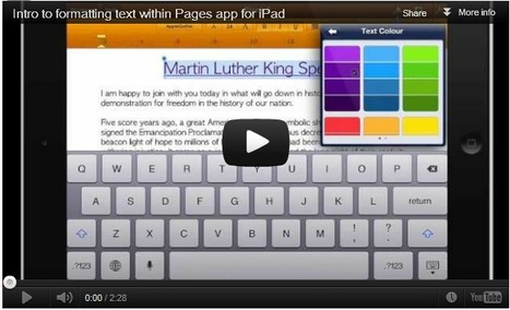 Introduction to formatting text in Pages app for iPad » iClevedon | Nos vies aujourd'hui - Our lives today | Scoop.it