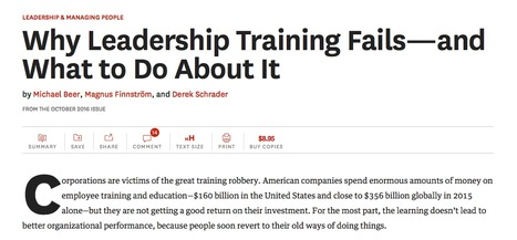 "Article : ""Why Leadership Training Fails—and What to Do About It"" (Harvard Business Review) 