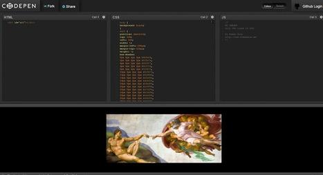 La Creación de Adán con puro CSS | educARTE | Scoop.it