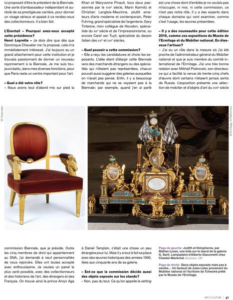 """Henri Loyrette """"Donner un nouveau rayonnement à la Biennale"""" (2/3)   La Biennale - Paris   Scoop.it"""