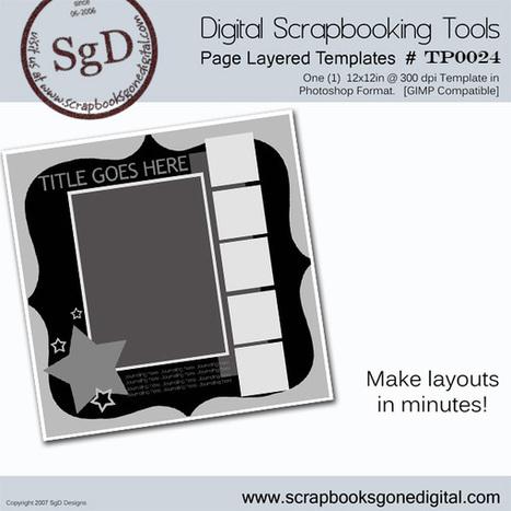 Free Digital Scrapbook: Photoshop Layer Template # T0024 | digital scrapbooking | Scoop.it