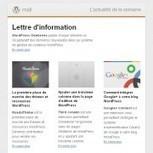 Une newsletter française pour WordPress ! | Blogs | Scoop.it