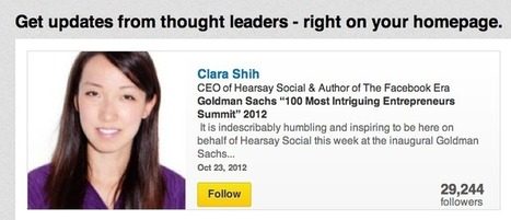 LinkedIn maakt het makkelijker om invloedrijke mensen te vinden ... | Content marketing en SEO | Scoop.it