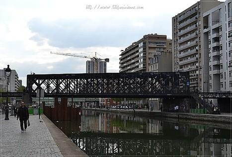 Canal de l Ourcq, Paris 19ème   Le Pont   Craqueur   de la petite ceinture 3888fdff384