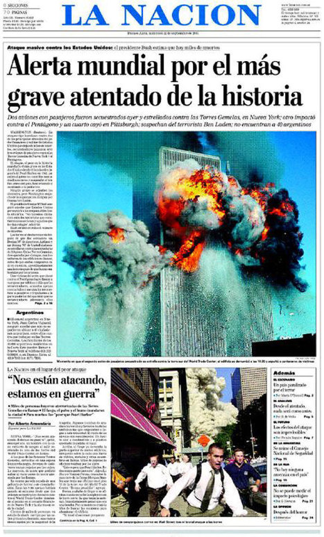 Newseum 'Today's Front Pages' Archive List September 12, 2001 | National September 11 Memorial & the World | Scoop.it