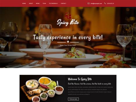 Spicy Bite Bootstrap Restaurant Template Free