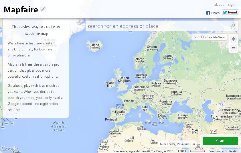 Mapfaire creer facilement une carte avec des r - Creer une carte geographique personnalisee ...