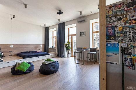 Appartement design à Kiev! - CôtéMaison.fr | mobilier salle de bain | Scoop.it
