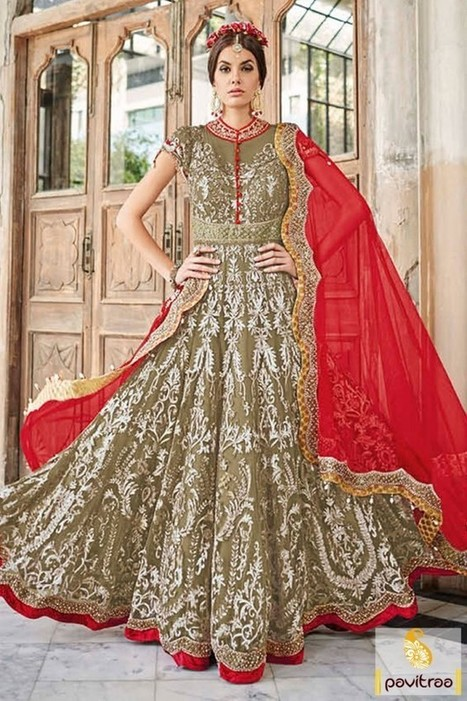 d53c03929586 bridal anarkali  in Online Shopping for Womens Clothes in India ...