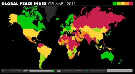 Global Index of Peace | A Geographer's Scrapbook | Scoop.it