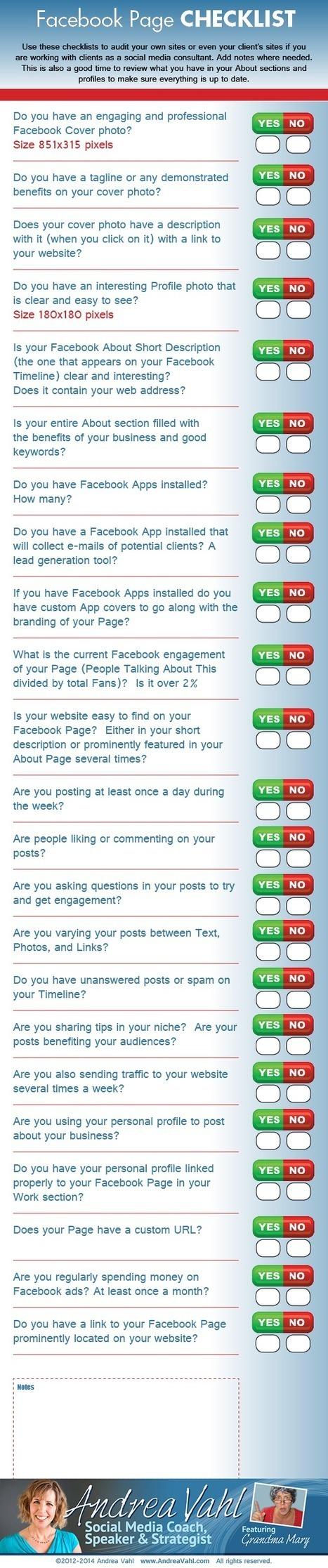 Facebook Page Checklist [Infographic] | Social Media Marketing Superstars | Scoop.it