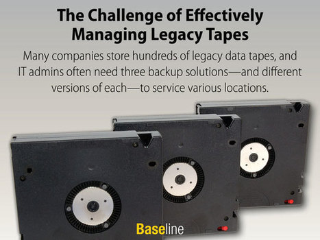 Managing Legacy Tapes Effectively Is a Challenge | Information Governance & eDiscovery Snapshot | Scoop.it