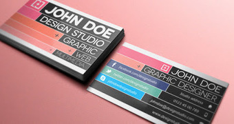 Free Business Card Templates Sociable - Social media business card template free
