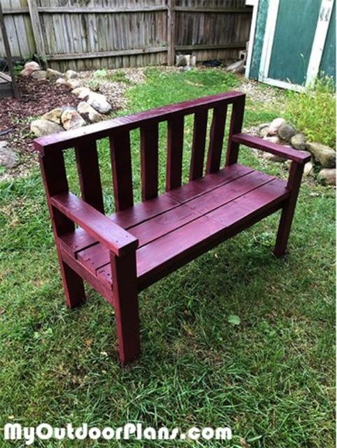 Miraculous 2X4 Garden Bench Diy Project Myoutdoorplans Pdpeps Interior Chair Design Pdpepsorg