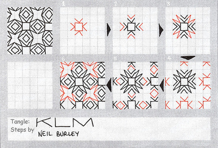 KLM - tangle pattern | Artistic Line Designs-all free | Scoop.it