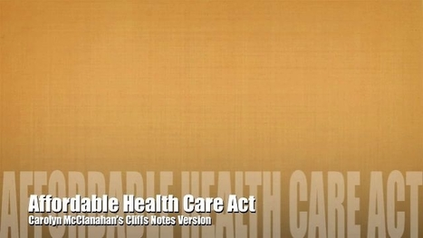 A Cliffs Notes Version Of Obamacare - Video - Forbes | #whatif... we redefined health? | Scoop.it