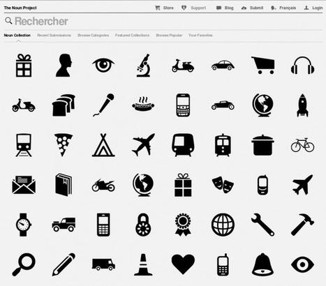 Magnifique The Noun Project, le catalogue des pictogrammes... @JG_99