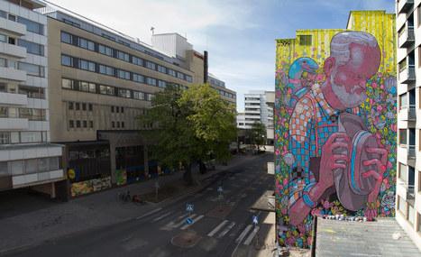 ARYZ: Du street art géant et plein de couleur, Réinvente la ville avec ses fresque de plusieurs dizaines de mètres. | Street Arts | Scoop.it