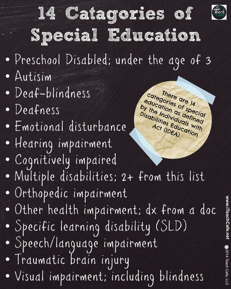 14 Categories of Special Education | iTeach Cafe, LLC | Scoop.it