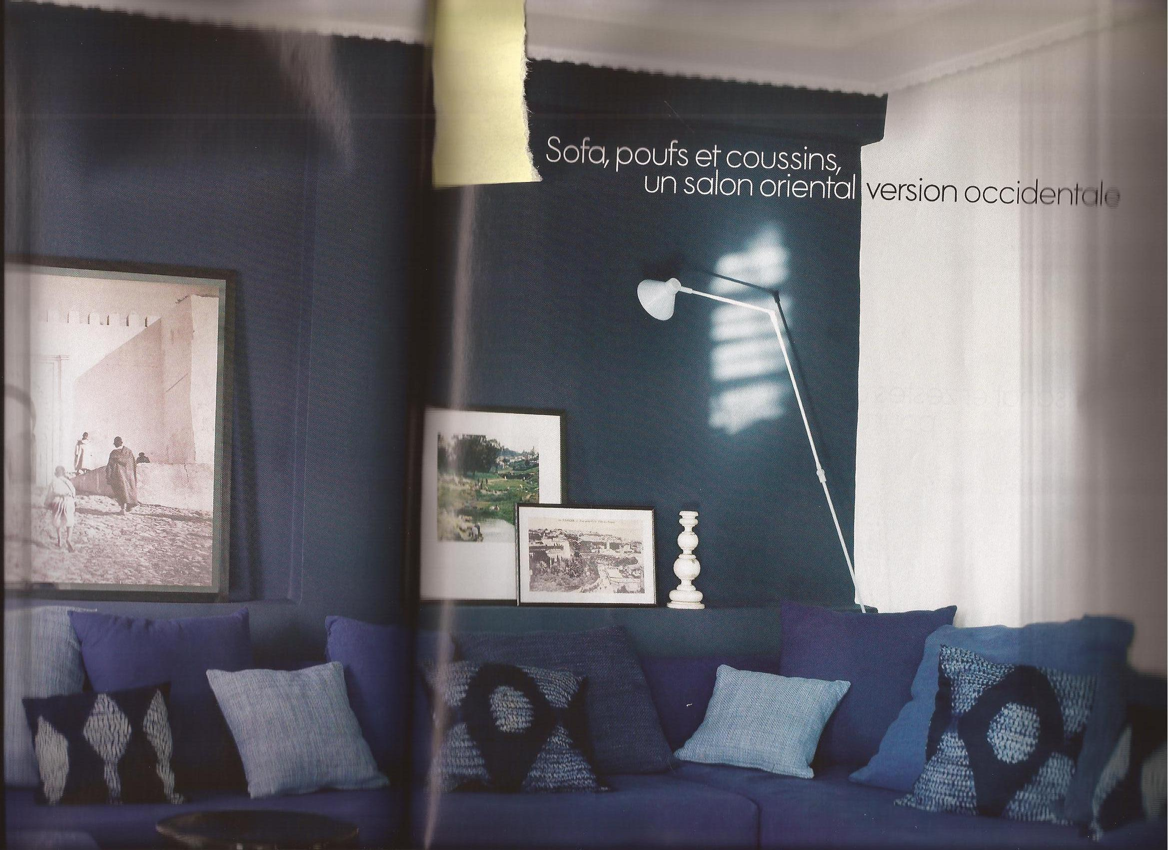 Salon bleu nuit salon et entr e sco for Salon bleu nuit