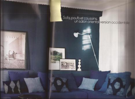 Salon Bleu Nuit Salon Et Entree Sco