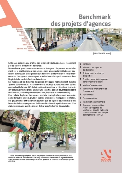 Élaboration du projet stratégique de l'Audiar 2016-2020 - Benchmark des projets d'agences | Audiar | Actualités et Publications de l'ADEUPa, de ses partenaires  et du réseau des agences d'urbanisme | Scoop.it