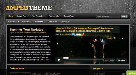 Amped - Theme for Artist and Band | Wordpress Themes | Scoop.it