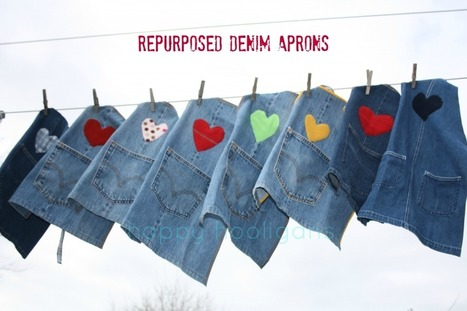 repurposed demin aprons - happy hooligans - what to do with old jeans | Vintage Living Today For A Future Tomorrow | Scoop.it
