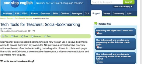 Tech Tools for Teachers: Social-bookmarking | English Language Teaching with Technology | Scoop.it