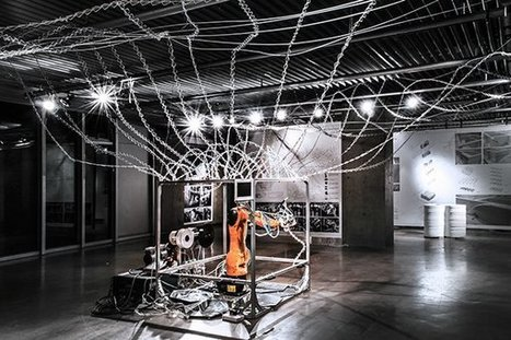 Students Develop 6-Axis Robotic 3D Printer Inspired by Spiderwebs | machinelike | Scoop.it